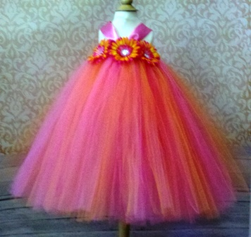 Hot Pink & Orange Tutu Dress - The Couture Baby