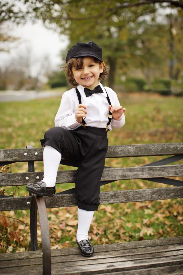 Boy S Black Dressy 4 Piece Knicker Set With Cap The