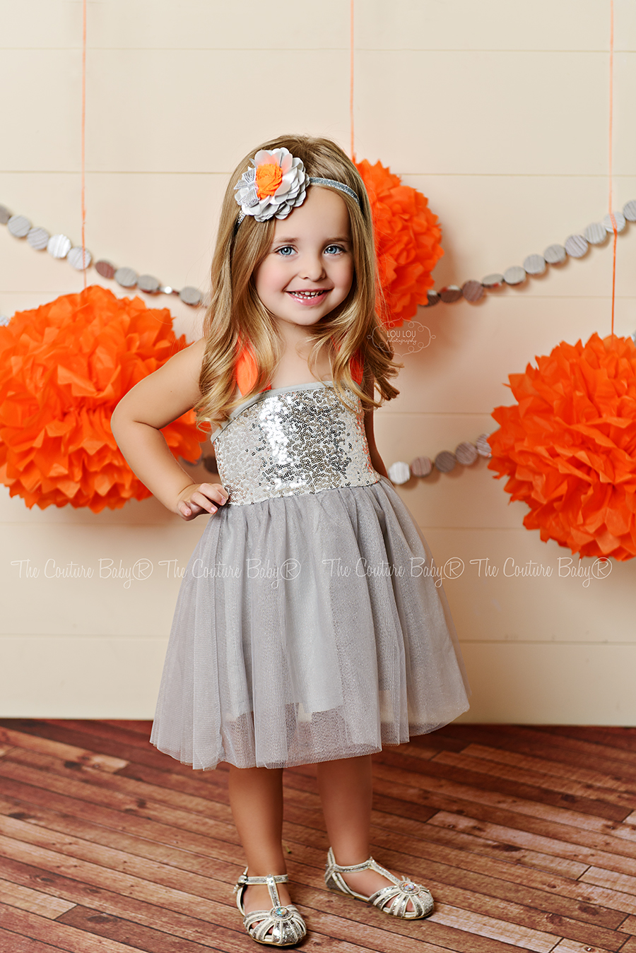 Disco Party Silver Amp Orange Sequin Tulle Dress The