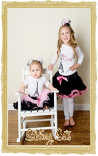 Big or Little: Sister or Brother Girls Clothes Personalized Customized