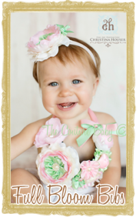 Baby, Toddler & little Girl Floral Bloom Bib Necklaces Photo Prop Customized