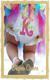 Custom Baby Girl Diaper Covers Bloomers - Ruffled, Personalized, Shabby Chic