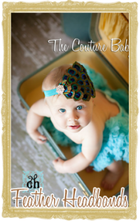 Baby, Toddler & Girl Feather Headbands Customized