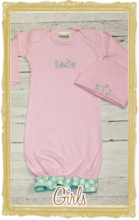 Baby, Toddler Girl Layette Personalized Customized