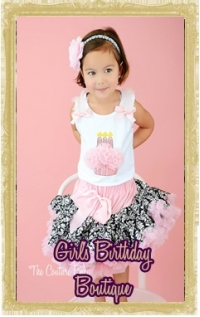 Baby, Toddler & Little Girl Birthday Boutique Clothing & Accessories Personalized Customized