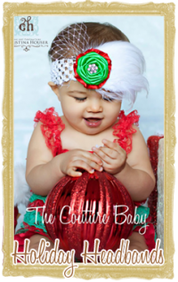 Baby, Toddler & Girl Holiday Headbands Customized