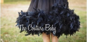 Black Swan Feather Dress