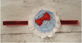"Dorothy ""Off To See The Wizard"" Blue Gingham & Red Sequin Glitter Headband"