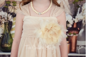 Champagne Feather Dress