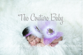 Lavender-Marabou & Amethyst-Sequin Wing and Headband 2 Piece Photo Prop Set