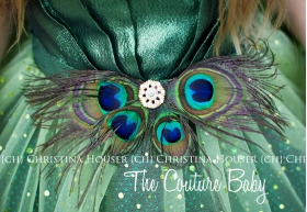 Green Sparkle Peacock Feather & Tulle Dress birthday photo shoot