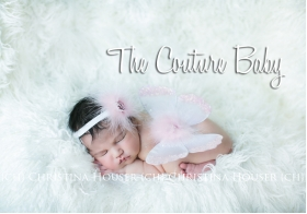 Pink Marabou Feather & Crystal Pink Sequin Baby Butterfly Wings & Headband 2 Pc Photo Prop Set