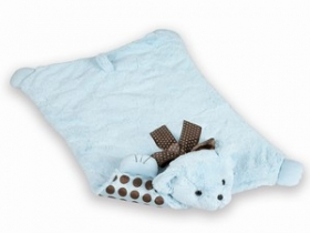 Light Blue Bear Belly Blanket