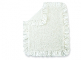 White Rosette Blanket Mud Pie