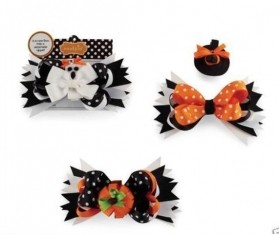Witch Hat-Pumpkin or Ghost Halloween 3 in One Hair Bow
