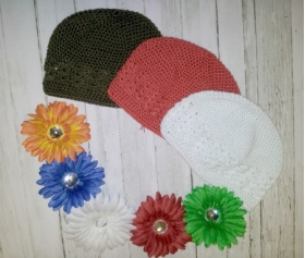 Holiday Princess Flower & Hat Set