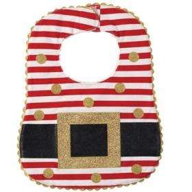 Santa Belt Red & White BIB