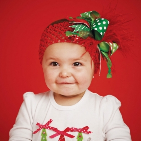 Over the Top Red & Green Christmas Headband