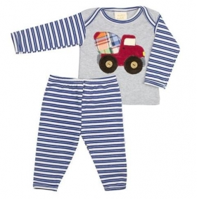 Haute Baby Boy Oh Boy Blue Stripe Legging Set
