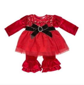 Red Tis The Season Infant Pant Set