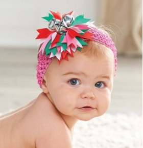 Jingle Bell Headband Red or Hot Pink
