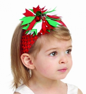 Red or Pink Christmas Jingle Bell Headband