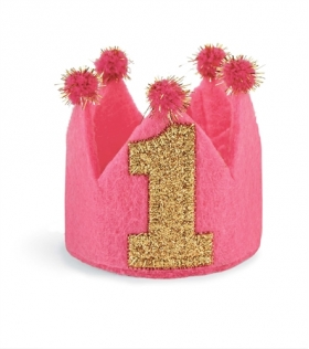 I'm One Birthday Crown Headband Mud Pie
