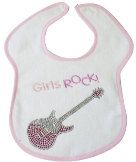 Girls Rock Crystal Bib
