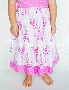 Eiffel Tower Hot Pink Paris Personalized Dress