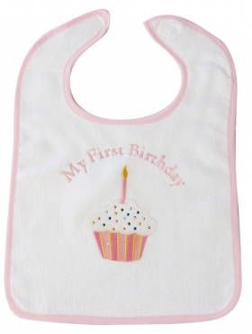 Customized Cupcake Applique Bib with Phrase