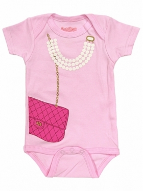 My First Pearls & Purse Pink Onesie