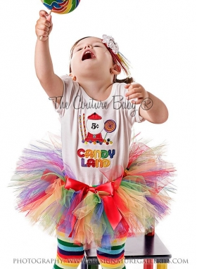 Candy Land Cutie Rainbow Tutu Set
