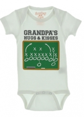 Grandpa's Hugs & Kisses Boy's Onesie