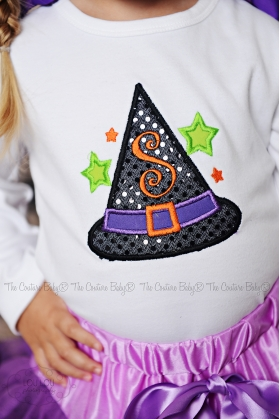Witches Hat Personalized Sparkle Shirt