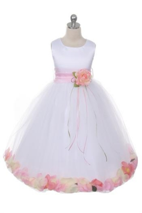 Flower Petal Dress with Sash Choice of Color