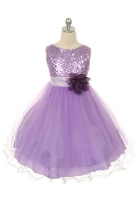 Lavender Sequin & Tulle Party Girl Dress
