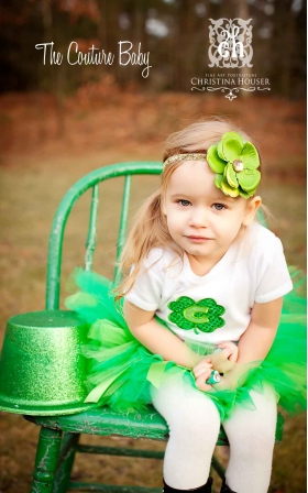 Green Shamrock Flower St. Patrick's Day Headband
