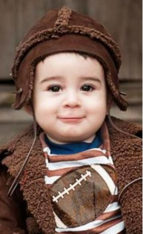 Boy's Brown Flap Hat