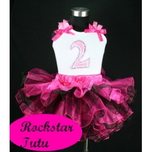 Rockstar Hot Pink & Black Tutu Set Age 1 2 3 4