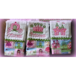Little Princess 3 Burp Cloth Set