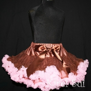 Brown & Pink Pettiskirt