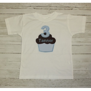 Personalized Birthday Boy Applique T-shirt