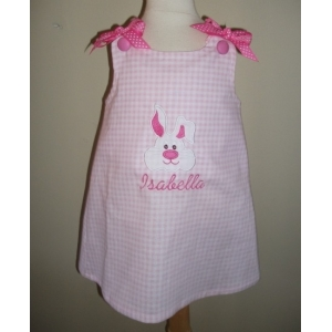 Easter Bunny Applique Dress