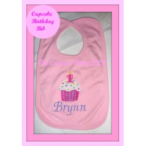 Cupcake Birthday Personalized Bib