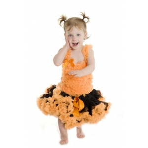 Orange & Black Pettiskirt
