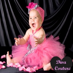 Diva Couture Zebra Hot Pink Crocheted Tutu DressDiva Couture Zebra Hot Pink Crocheted Tutu Dress
