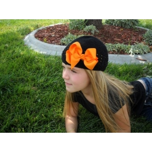 Halloween Theme  Crochet Hat & Headband Set