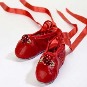 Red Sequins Flower Ballet Slipper