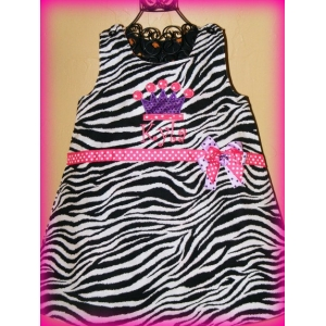 Zebra Princess Personalized Jumper Dress