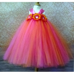 Hot Pink & Orange Tutu Dress